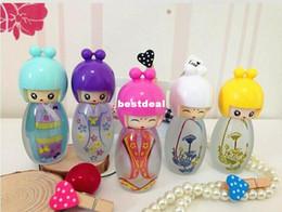 Wholesale Wholesale Paint Sprayer - 150pcs 20ml Glass Perfume Bottle Lovely Doll Painted Empty Perfume Bottles With Sprayer Refilable Perfume Containers