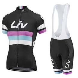 Wholesale Shirt Padded - 2017 Liv Cycling jersey Women Mtb Short Sleeve shirts Bicycle Sport Wear Bike Ropa Ciclismo Cycle Bisiklet clothing 9 D Gel Pad