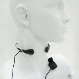 Wholesale Covert Radio Earpiece - Radio Earpiece Throat MIC Covert Acoustic Tube PTT Headset for Kenwood QUANSHENG WOUXUN TYT Tongfa UV-985 BAOFENG UV-5R