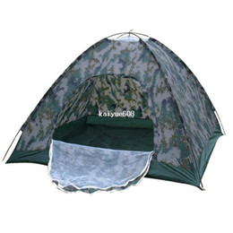 Wholesale Outdoor Large Camping Tent - Free shipping Outdoor camping tent Camouflage fieid game tent 3 - 4 family tent The large space