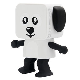 Wholesale White Robot Toy - Hot sale Dog Robot Speaker Dancing Bluetooth Portable Speakers Wireless Cartoon Cute Stereo Bass Hands-free Phone Function Speaker toy