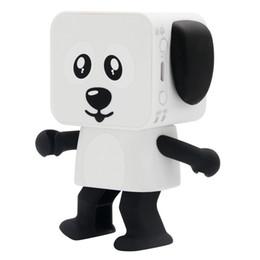 Wholesale Cute Robot Cartoon - Hot sale Dog Robot Speaker Dancing Bluetooth Portable Speakers Wireless Cartoon Cute Stereo Bass Hands-free Phone Function Speaker toy