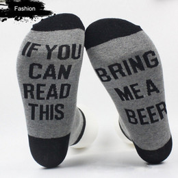 purple wines glasses Promo Codes - Wholesale- Hot Women Men Letter Printed Socks If You Can Read This Bring Me A Glass Of Wine Unisex Socks Funny Novelty Vintage Retro Socks