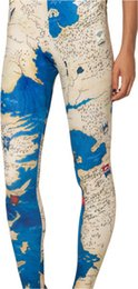 Wholesale Middle Earth Leggings - 2015 woman brand clothes digital printed Pants MIDDLE EARTH MAP LEGGINGS fashion HOT women leggings Free Shipping