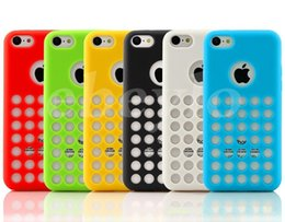 Wholesale New Arrival Iphone 5c - New Arrival TPU Case Cover for iPhone 5C iphone5C 6 Colors Cell Phone Cases DHL free shipping