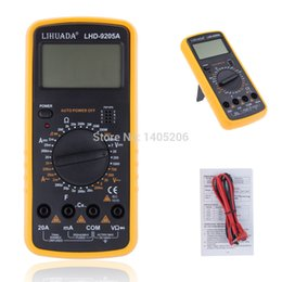 Wholesale Dc Ac Ammeter - DT9205A AC DC Digital LCD Display Electrical Handheld Tester Digital Multimeter digital professional Multimetro Meter Ammeter