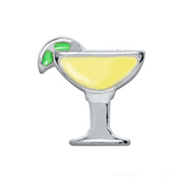 Wholesale Summer Floats - 20pcs lot DIY ALLOY summer fruit wine drink floating charms for glass memory lockets good quality and free shipping