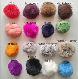 Wholesale Wholesale China Shoes Free Shipping - 10CM natural brown colour rabbit fur pom poms garments accessories shoes & accessories hat accessory, 50pcs set, free shipping