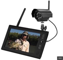 Systèmes de caméras de sécurité dvr sans fil en Ligne-Haute Qualité 7 pouces Numérique 2.4G Caméras Sans Fil Moniteurs 4CH Quad DVR Système de Sécurité