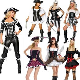 Wholesale Caribbean Performance Costumes - Halloween costume Pirates of the Caribbean suits for women costumes play role playing under party performance Series