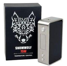 Lobo de neve mini on-line-Autêntico lobo da neve 75 w TC Mod Asmodus lobo da neve mini 75 W controle de Temperatura mod vapor para subohm tanque DHL Livre TZ612