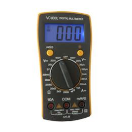 Wholesale Pocket Multimeter - Pocket Size Teaching Digital multimeter Brand VC830L Home Use Voltmeter Ohmmeter hFE Current Tester LCD Backlight