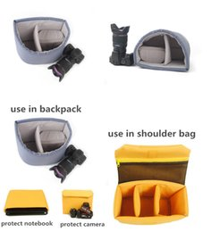 Wholesale Computer Bag Liner - Wholesale-Waterproof Digital Camera SLR camera bag computer sleeve thick liner bag leisure can be use for package for notebook tank