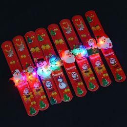 2019 круговое освещение Рождество хлопать круг Xmas Santa Lighted Украшение Ткань Art Clap Круг Малыш Дети Блеск Мяч Браслеты Рождественские Украшения IB514 скидка круговое освещение