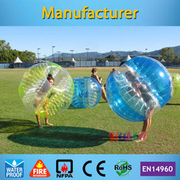 шаровой бампер корабля Скидка Wholesale- Free Shipping Dia 1.2m PVC Inflatable Bubble Soccer Football Ball,Zorb Ball, inflatable human hamster ball, Bumper Ball for Kids