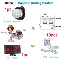 Wholesale Emergency Call - Wireless nurse call system of 1 call display 1 wrist watch for nurse or doctor and 10 emergency call button