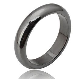 Wholesale Wholesale Hematite Rings - Wholesale-Hot Sale high quality stainless steel Hematite Magnetite jewelry engagement wedding couple rings for women and men love gifts