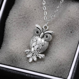Wholesale Europe Owl - Hot ! 10PCS Europe and America owl Pendant Necklace Chain length 53cm 5 - Style