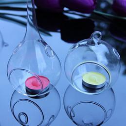 Casamentos De Vidro Pendurado Suporte De Vela Dia 6 cm 8 cm rodada de vidro pendurado velas Pendurado Planta de Ar Terrário candlesticks Globo De Vidro Chá luz de