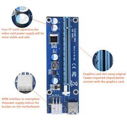 Jouets alimentés par usb en Ligne-Adaptateur de carte Riser Extender PCI-E Express pour Noël 1X à 16X avec câble d'alimentation 6 broches USB 3.0 Ports Câbles Ver006 60cm