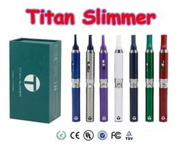 Wholesale Electronic Cigarette Pen Starter Kit - Titan Slimmer Vaporizer Pen Starter Kits 7 Colors 650mah Herbal Vaporizer Dry Herb Electronic Cigarette designed Vape pen