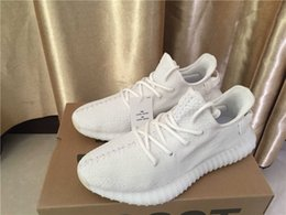 "Wholesale Women S White Rubber Shoes - 2017 Originals Boost 350 V2 Cream White"" SPLY-350 Kanye West 350 Boost V2 Blade Men\'s Women\'s Leisure sports shoes Free Shipping"