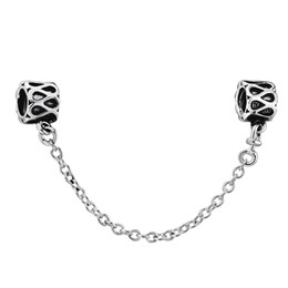 Wholesale European Sterling Silver Safety Chain - Wholesale Safety Chain 925 Sterling Silver Bead Compatible With Snake Chain Bracelet Female Jewelry European Charm