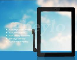 2019 dh inch tablet 50 STÜCKE Touchscreen Glasscheibe mit Digitizer Tasten Klebstoff für iPad 2 3 4 Schwarz und Weiß