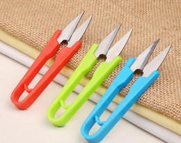 Wholesale U Shaped Steel - Multifunctional U Shape Scissors Stainless Steel Sewing Scissors Thread Cutting Tool for Stitch DIY Supplies D254Q