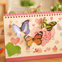 Wholesale Index Sticky Note - Butterfly Sticker Post It Bookmark Marker Memo Index Tab Flags Sticky Notes Colorful butterfly decoration sticky JIA126