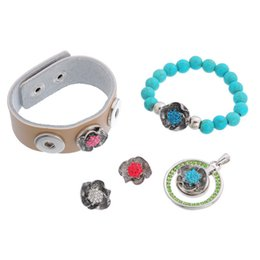 Wholesale Free Hot Mom - 2015 hot heart mom button snaps alloy flower noosa chunks for noosa leather DIY bracelets noosa jewelry free ship