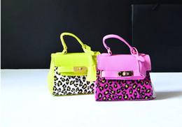 Wholesale Unique Kids Fashion - Leopard Print Kid handbag Korean Fashion PU Leather Girls Princess Bags Unique design Children bag Kids Messenger Bag C2510
