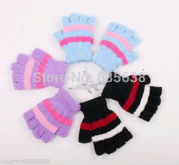 Wholesale Laptop Hand Warmer - Wholesale-Laptop USB Heating Winter Warm Hot Hands Gloves Heated Warmer Woolen Fingerless