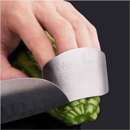 Wholesale Safe Slice - Kitchen Cooking Tools Stainless Steel Finger Hand Protector Guard Personalized Design Chop Safe Slice Knife free shipping