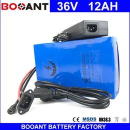 Wholesale E Scooter Charger - BOOANT Li-ion Battery pack 10S 6P E-Bike Li-ion Battery pack 36V 12AH Scooter Battery For Bafang 850W Motor with 42V 2A charger