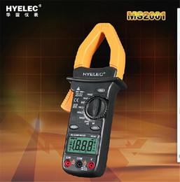 Wholesale Digital Insulation Resistance Tester Meter - hot sale HYELEC MS2001 Digital AC Clamp Meter Resistance Insulation Tester Digital Earth Ground Uni t Meter Megohmmeter Tester H11422