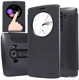 Wholesale Nillkin Case For Lg - 5 Colors Nillkin PU Leather Quick Circle Smart View Cover Skin Case For LG G4 With Wake Sleep Free shipping