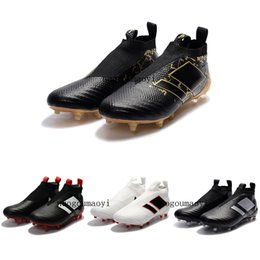 Wholesale Football Supplies - Supply Laceless ACE 17+ PureControl FG Dragon Soccer Shoes Outdoor Football Shoes ACE Tango 17+ Purecontrol TF IN Soccer Boots