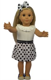 Wholesale Pants Porcelain - Pretty 18 American Girl Doll Dress with 18 Girl Doll Accessories Polka Dot Headband and Dress