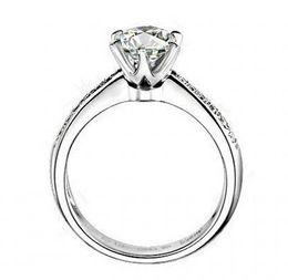 Wholesale Eternity Band Gold Diamond - Fine silver sona lab diamond Wedding rings for women,White gold round brilliant wedding band,wedding ring set,Eternity band