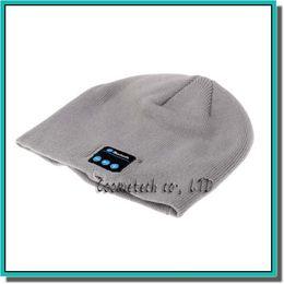 Wholesale Headgear For Winter - Hot Men Women Soft Winter Beanie Hats Wireless Bluetooth Smart Cap Headphone Headset Speaker Mic Headgear Knitted Cap More Colorful
