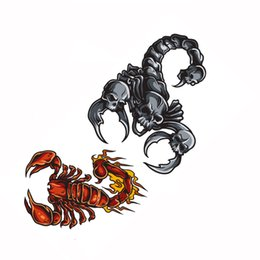 Wholesale Tattoos Scorpions - Tattoo Sticker Scorpions Pattern Waterproof Temporary Tattoos Temporary Tattooing Paper Body Art