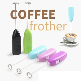 Wholesale Mini Frother - Mini Eggs Beater Hand-held Coffee Cream Frother Maker Beaters Milk Frother Kitchen Egg Tool Random Colors OOA3754