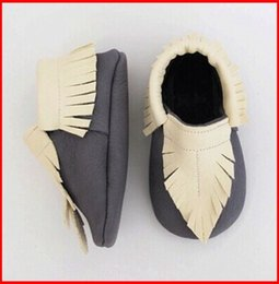 Wholesale Kids Retail Shoes - Retail 2015 New Baby Moccasins Boys Soft Moccs Infant Leather walking Shoes Kids Genuine Leather Newborn Baby Prewalker Babe Infant Shoes
