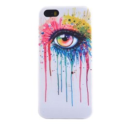 Wholesale Iphone 5c Colorful Case - Retro Rainbow woman Colorful Pattern TPU Soft Silicone Phone Case Cover For For iPhone 5G 5S 5c free gift