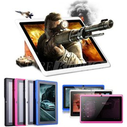 "9,7 tavolette 4 g di octa nucleo Sconti 7 ""Allinchner A33 Quad Core Q88 Tablet PC Android 4.4 1.2GHz 1GB RAM 16GB ROM Bluetooth Wifi 6 colori"