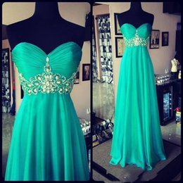 Wholesale Vestido Corset Festa - Vestido Festa Modelos Perfeito Cores Variadas Turquoise Prom Dresses 2016 Sweetheart Real Images Corset Empire Vintage Special Occasion Gown