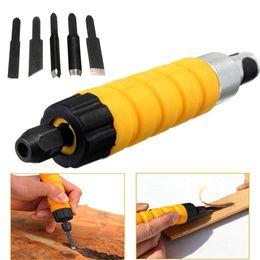 Utensili per la lavorazione del legno online-Scalpello per intagliare la lavorazione del legno con 5 lame da intaglio