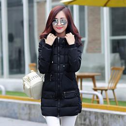 Wholesale Xxl Ladies Long Winter Coats - 2015 New Fashion women's Down Jacket Women's Winter Coats in the Long Slim Hooded Down Jacket Ladies Thickening Coats SizeM L XL XXL
