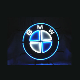 Wholesale Auto Dealer - M W GERMAN AUTO CAR STORE B DEALER REAL GLASS TUBE NEON SIGN BAR LIGHT BEER PUB SIGNS 17*14""